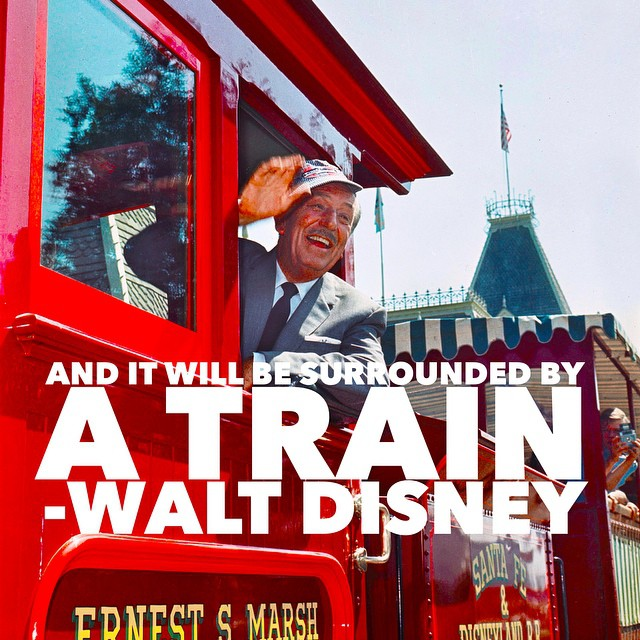 Walt Disney had always planned to have a train circling…