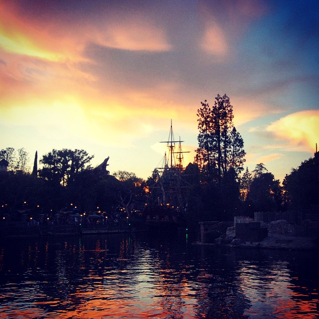 The sunset on the Rivers of America is a magical…