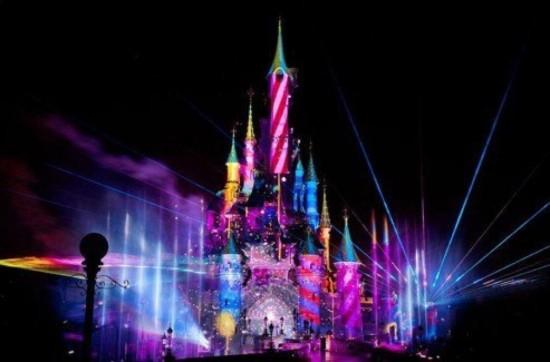 Disneyland Paris at Night Night at Disneyland Paris