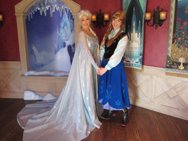 Queen Elsa and Princess Anna at the Royal Reception