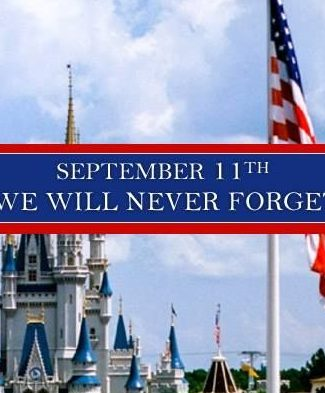 Picture of Cinderella Castle with 9/11 saying