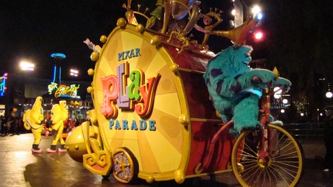 The vastly superior Pixar Play Parade.
