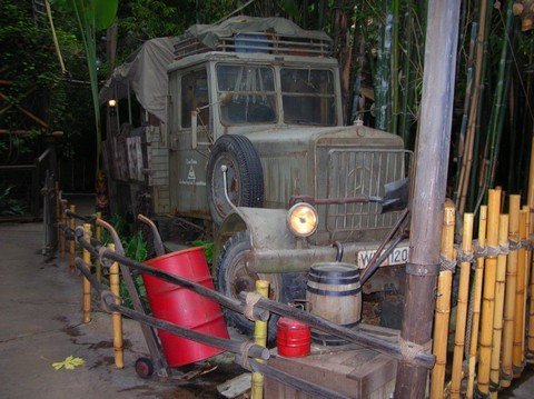Yep, the truck in front of Indiana Jones Adventure comes right of the set of Raiders of the Lost Ark.