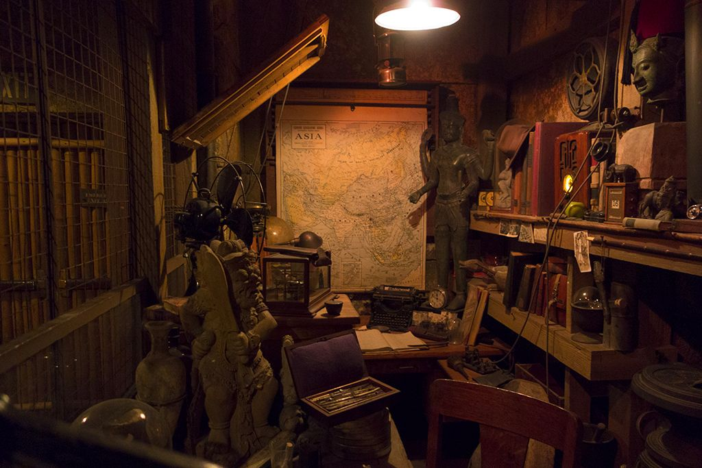 The office of Indiana Jones at Disneyland