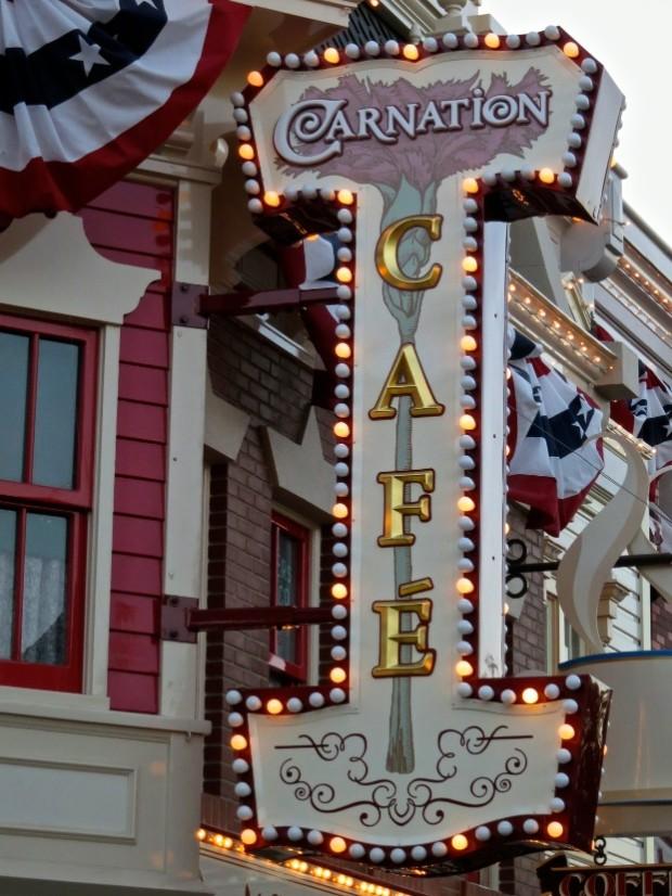 Carnation Café Review disneyland