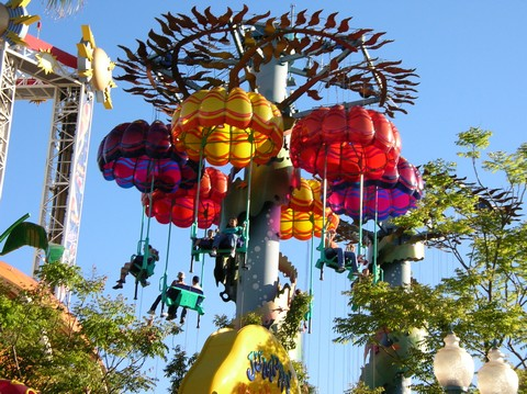 Jumping Jellyfish - one of the few rides a child could actually enjoy in DCA when it opened.