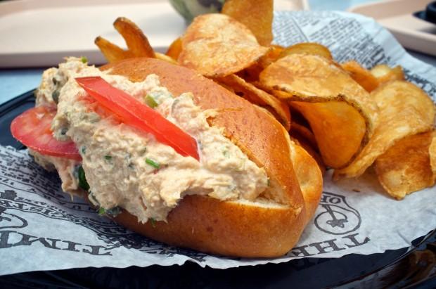 Albacore Tuna Salad on Brioche w/side of house chips 9.29