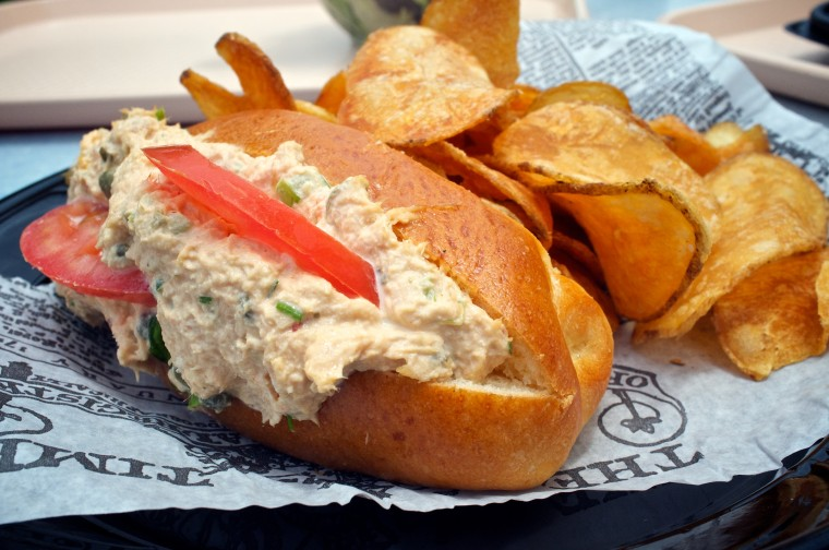 Albacore Tuna Salad on Brioche w/side of house chips 9.29