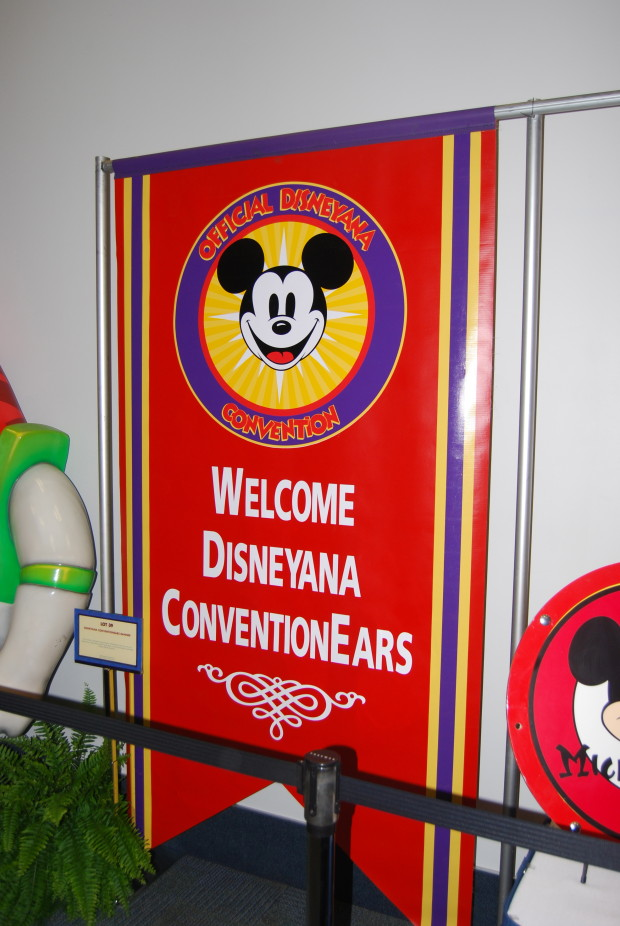 disneyana banner at the at the d23 expo silent auction