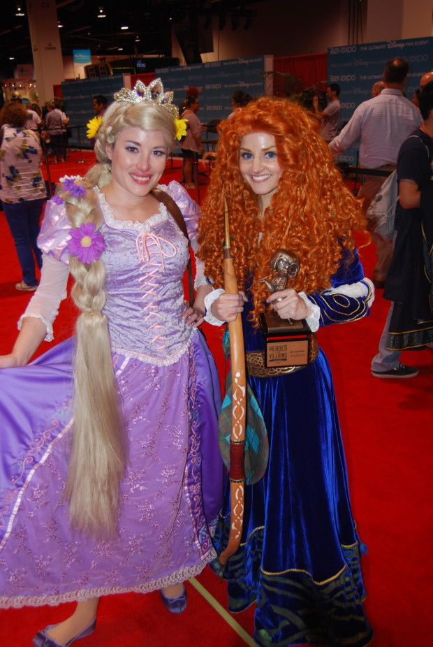 Rapunzel and Merida at the D23 Expo 2013