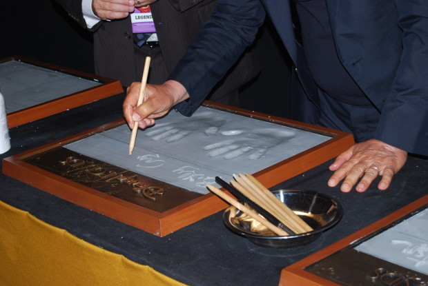billy crystal hand prints and signature
