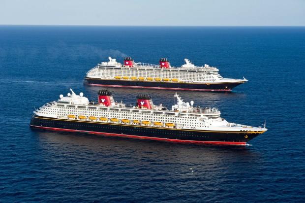Disney Dream and Disney Fantasy in ocean luxury disney