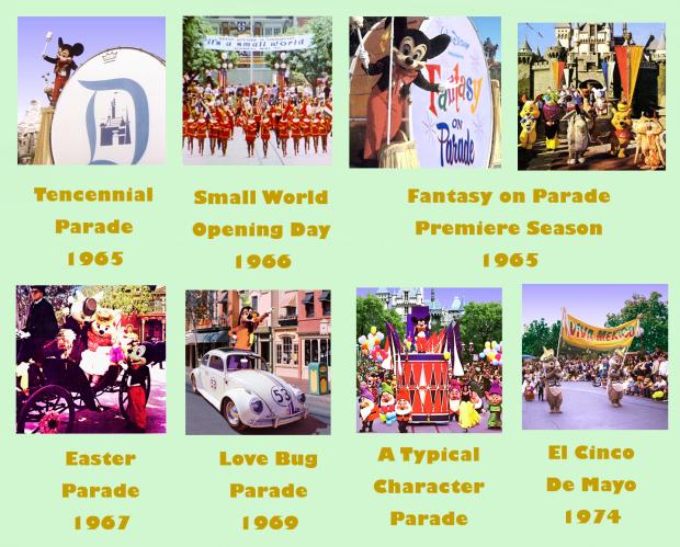 Disneyland Parades 1965 - Early 70's