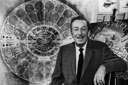 This photo comes from the taping of a TV special about Walt's next project, Epcot. This was last television filming Walt Disney ever did.