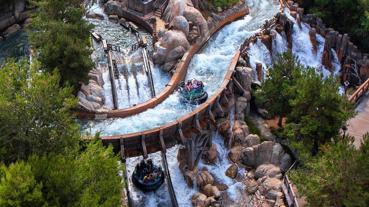 Get discount Disneyland tickets to ride Grizzly River Run