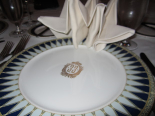 club 33 plate with logo