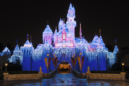 the centerpiece of disneyland is of course sleeping beautys castle even during the rest of the year the castle is spectacular - Disney World Christmas Decorations 2017