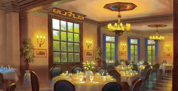 Inside Exclusive Disneyland Club 33 And 1901 Club Dd017