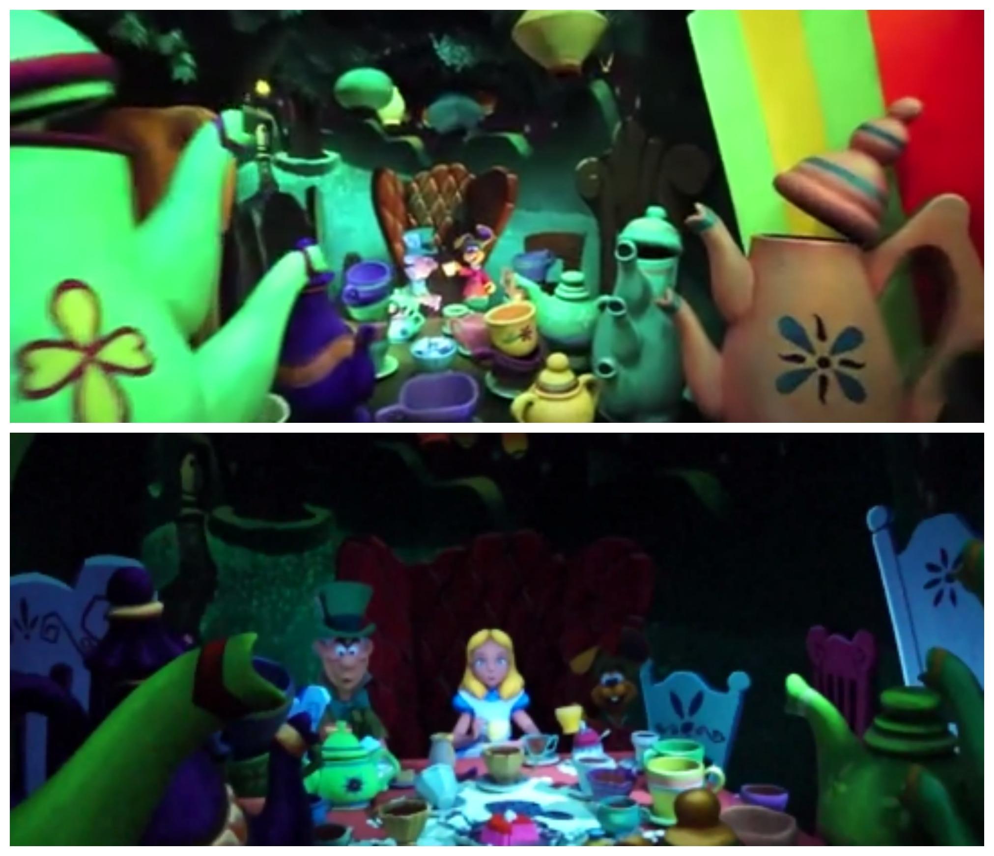 alice in wonderland disneyland mad tea party scene mad hatter alice