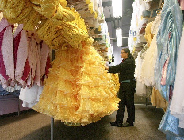 """Belle's formal dress from """"The Beauty and the Beast"""" show"""