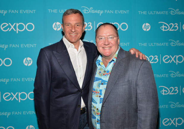 Bob Iger, the CEO of Disney and John Lasseter, the two men currently leading the Disney company. Iger financially and Lasseter creatively.