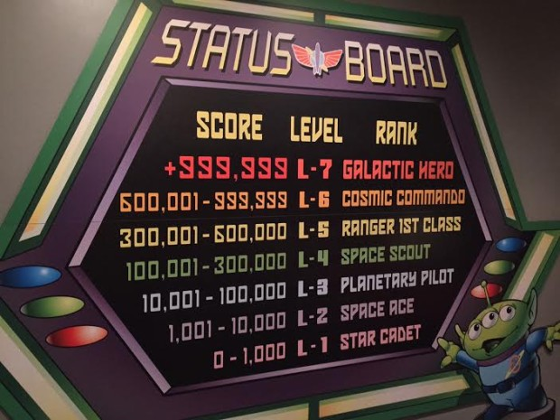 get the high score buzz lightyear disneyland