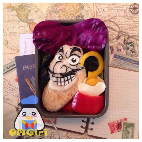captain hook peter pan disney bento box