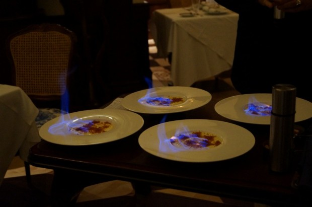 club 33 flaming creme brule new menu