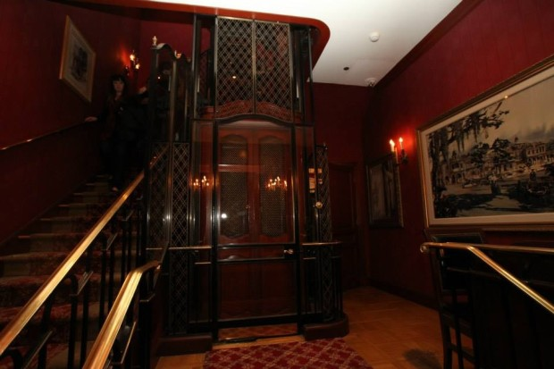 club 33 lobby and lift
