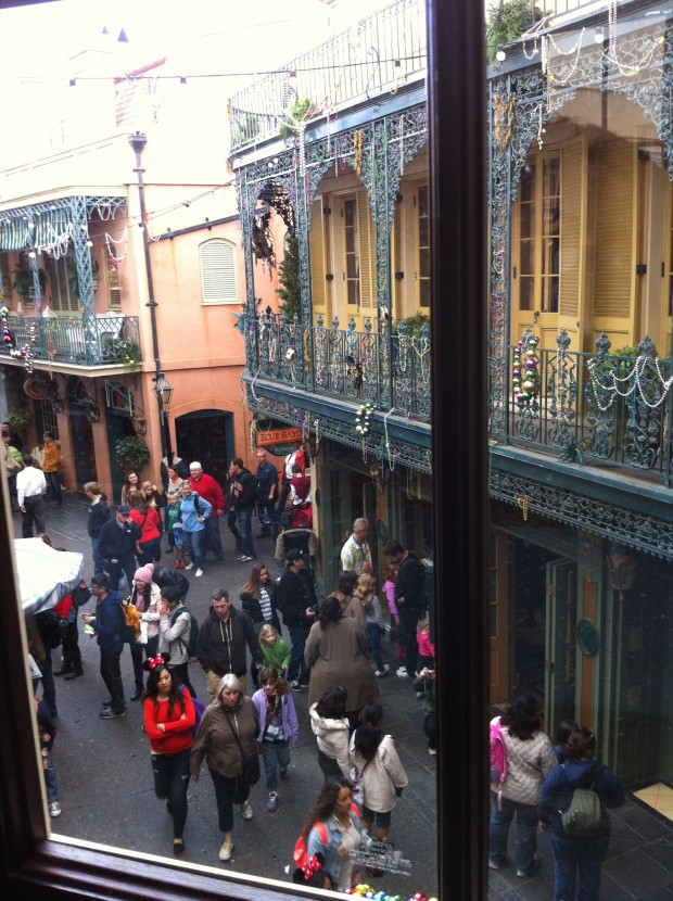 new orleans square disneyland from above