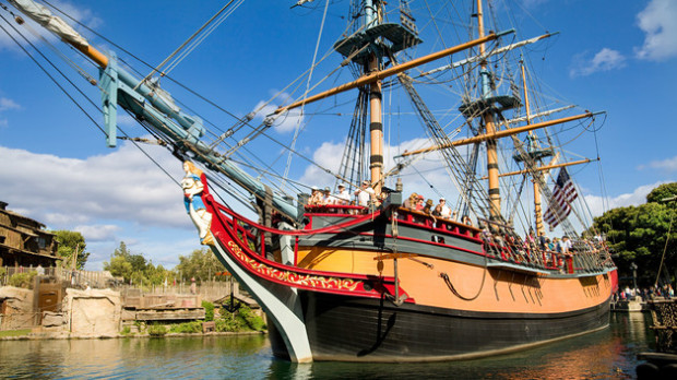columbia sailing ship disneyland