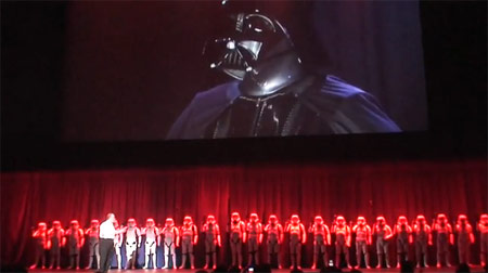 Darth Vader presentation at the