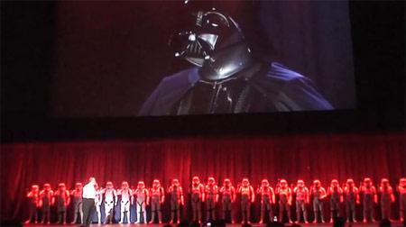 Darth Vader presentation at the
