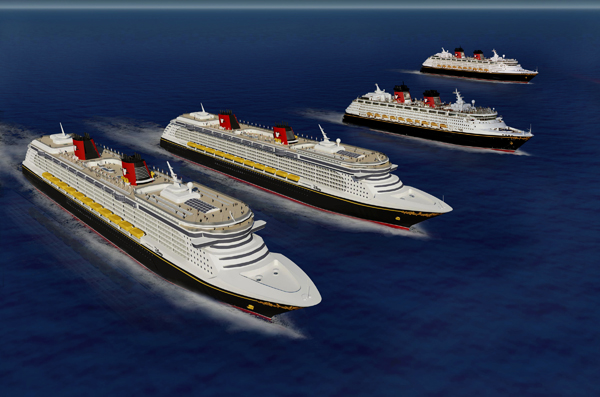 disney cruise line all four ships disney fantasy disney wonder disney dream