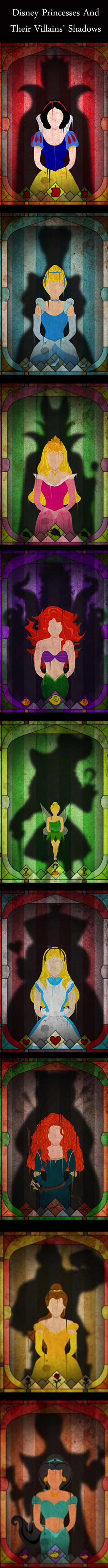disney princesses haunted by their villians shadows