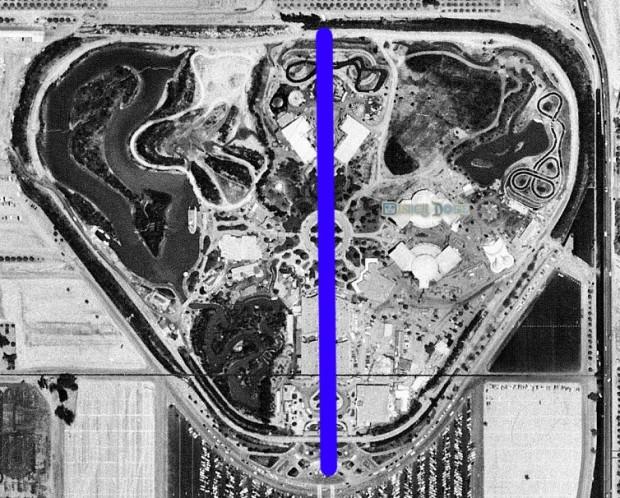 disneyland aerial photo 1955