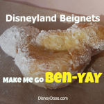 Disneyland Mickey Mouse Beignets Make Me Go Ben-Yay