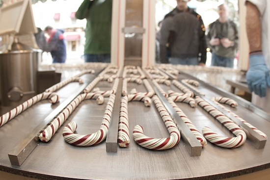 disneyland candy cane for sale at disneyland during christmas time