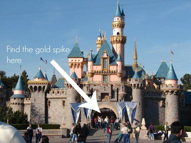 disneyland castle gold spike arrow