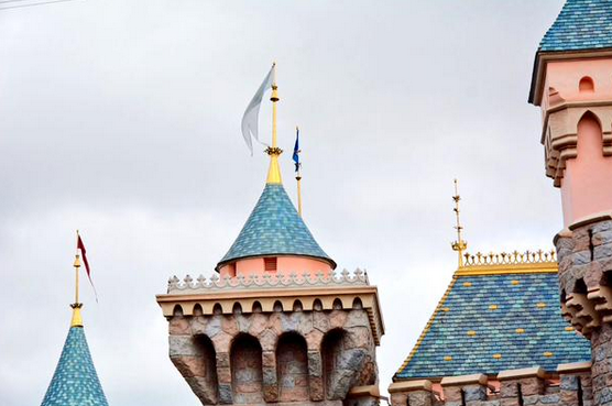 Sleeping Beauty Castle Tarps Removed: Before and After