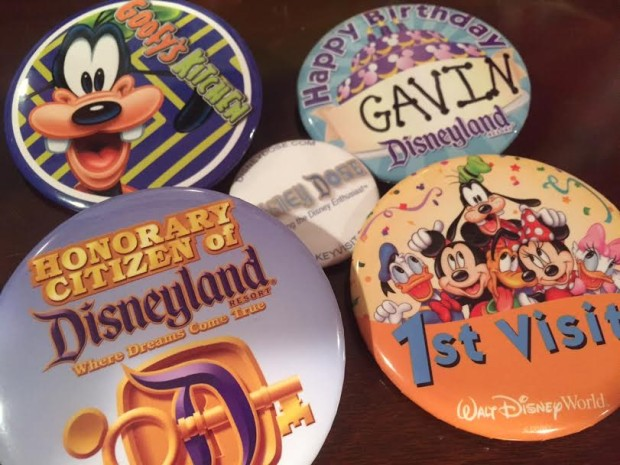 disneyland celebration buttons