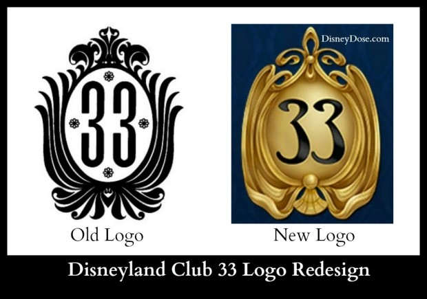 disneyland club 33 logo redesign