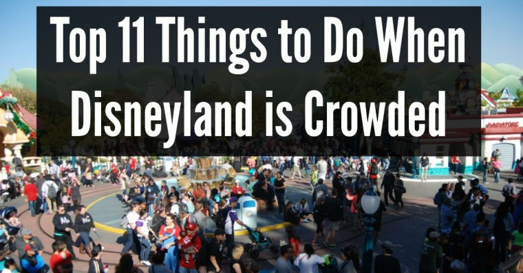crowded disneyland things to do disneyland people