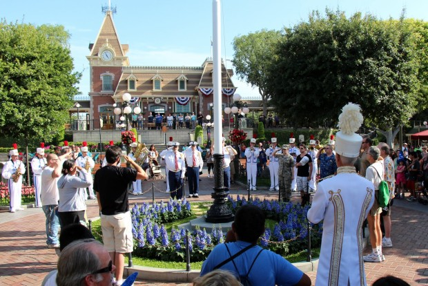 disneyland flag pole