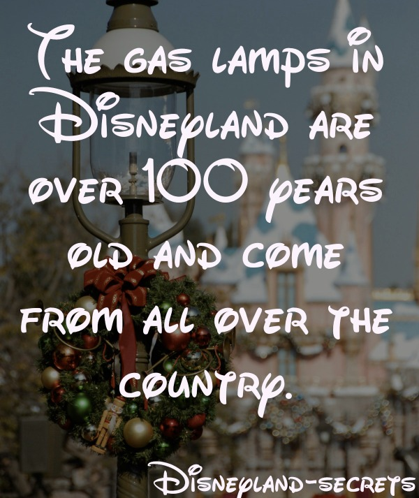 disneyland gas lamps
