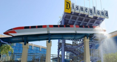 disneyland hotel pool monorail