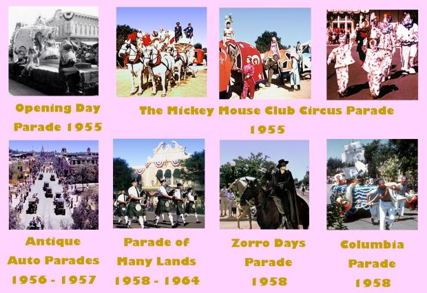 disneyland opening day parades