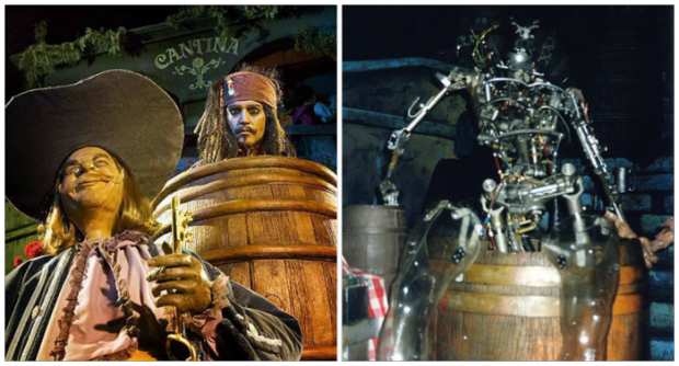 disneyland pirates of the caribbean disneyland backstage barrel