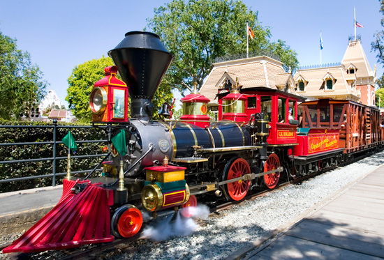 Disneyland Steam Engine. Photo by Disney.