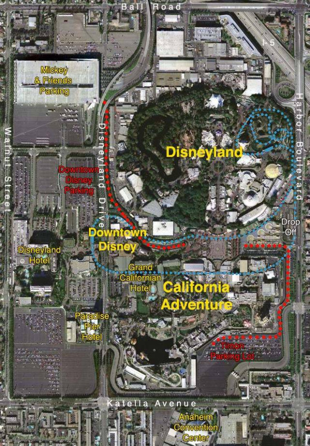 Disneyland Resort Map